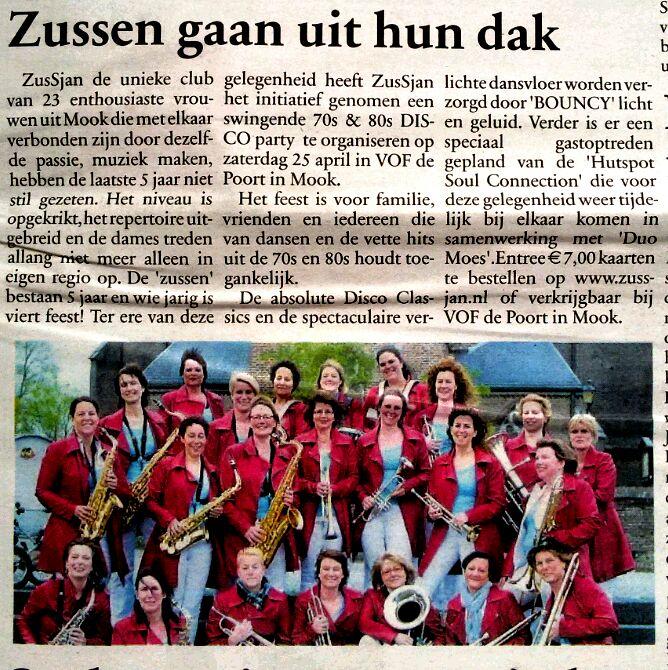 Jubileum party ZusSjan = uitverkocht!
